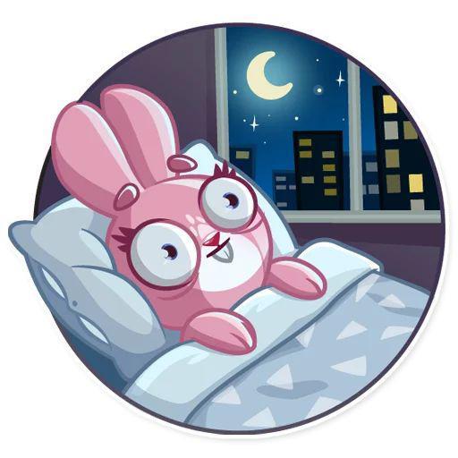 استیکر تلگرام خرگوش زیبا Rosy Bunny