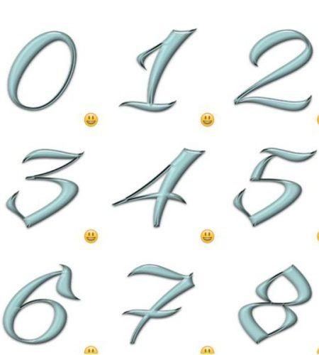 مجموعه استیکرهای اعداد برای تلگرام Playful Numbers