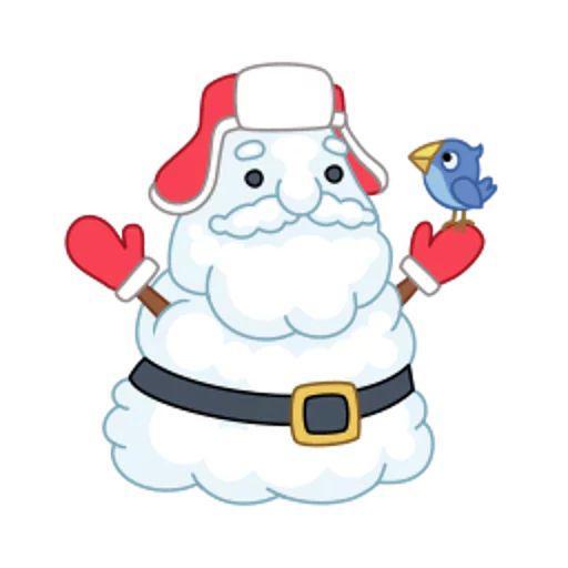 استیکر تلگرام بابانوئل